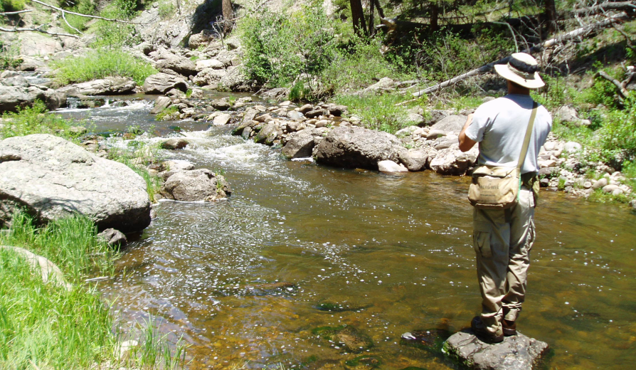 <h1> Fly fishing the area streams and alpine lakes for Native Cutthroat, rainbow and German brown trout is a great way to cool our heals too</h1>